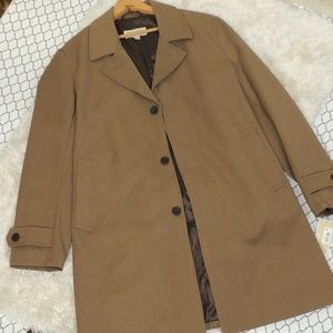 MMK men trench coat khaki NWT